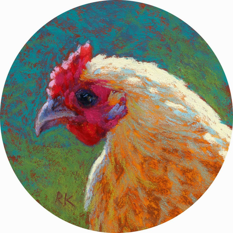 """Chick Profile #3 - day 23"" original fine art by Rita Kirkman"