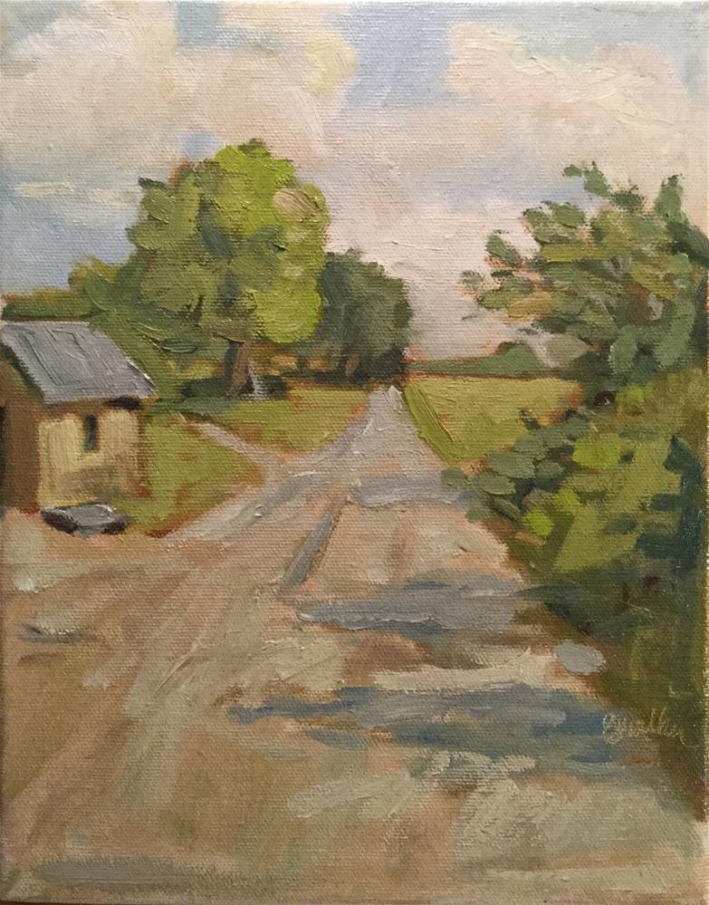 """""""Walking Lane"""" original fine art by Barb Walker"""
