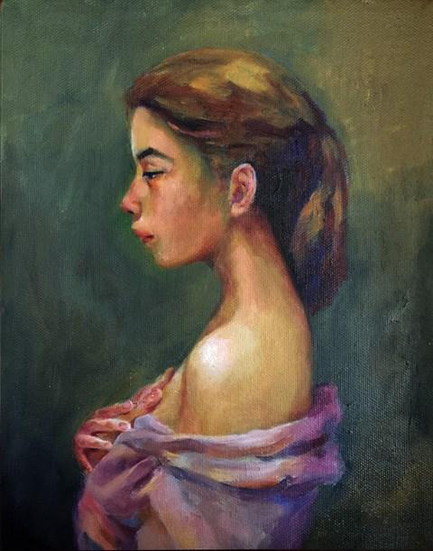 """""""portait"""" original fine art by Joy Cai"""