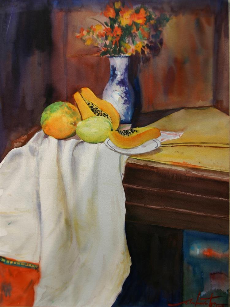 """Papaya atbp"" original fine art by Ann Buenaventura"