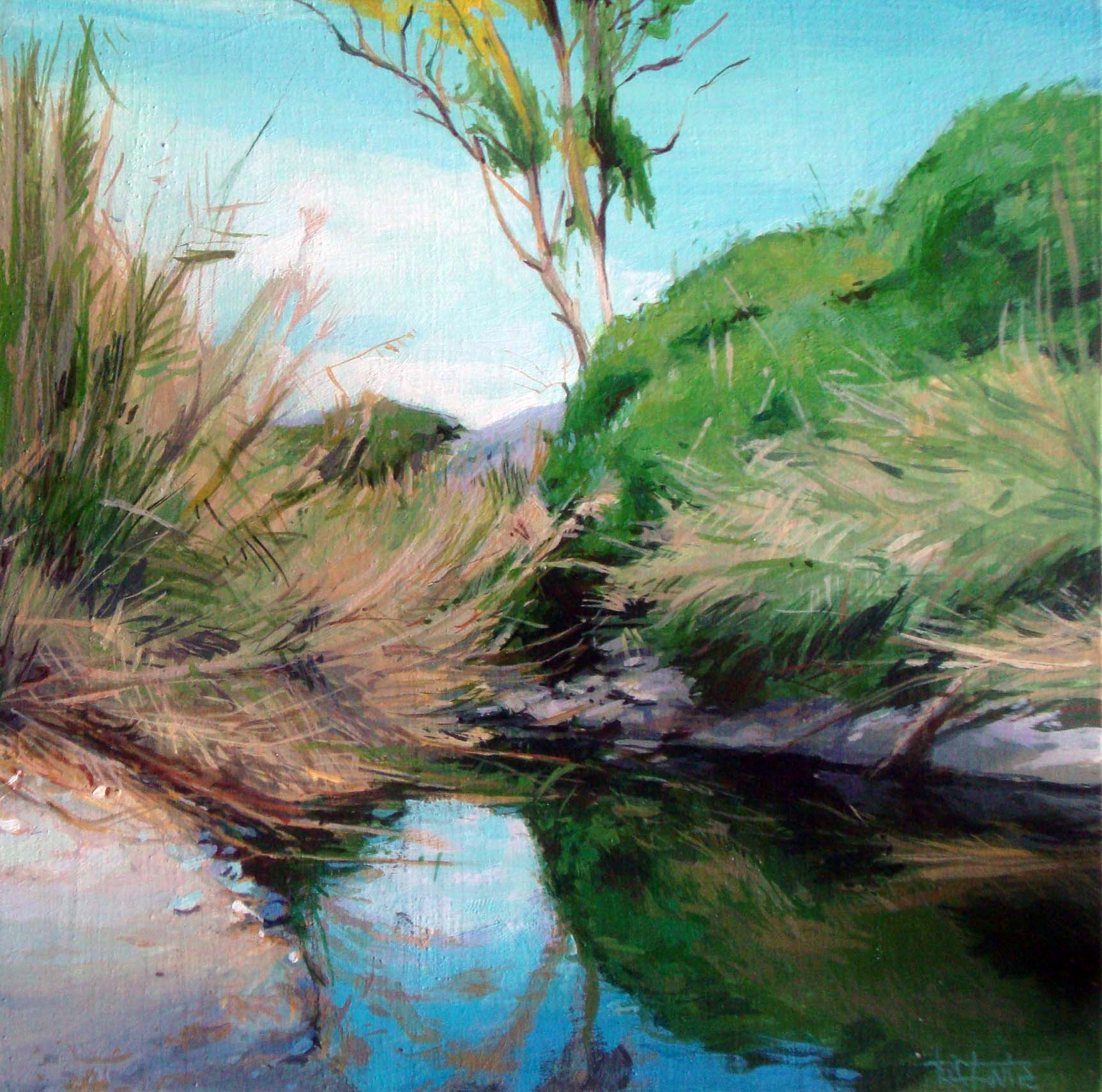"""River´s reflects"" original fine art by Víctor Tristante"