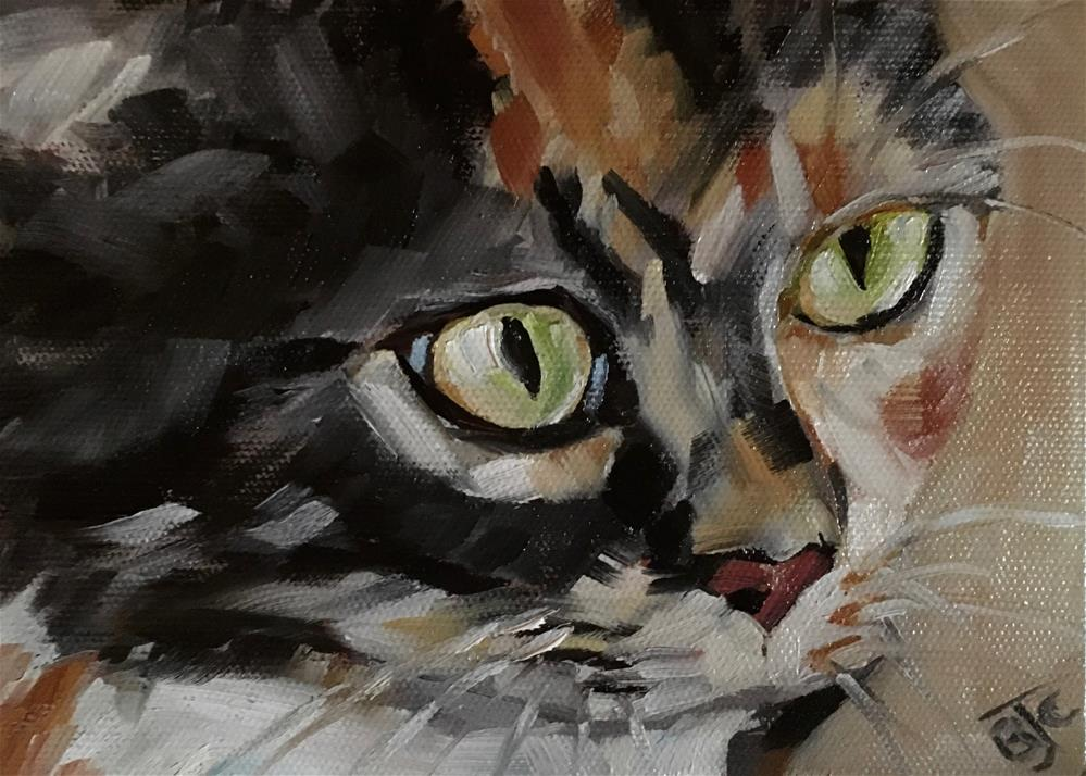 """Tortoiseshell Cat"" original fine art by Bobbie Cook"