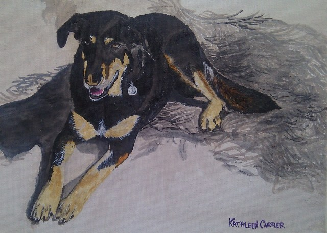 """Molly"" original fine art by Kathleen Carrier"