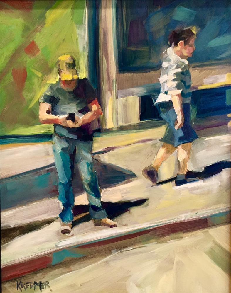 """Man with the Yellow Hat"" original fine art by Kathleen Redmer"