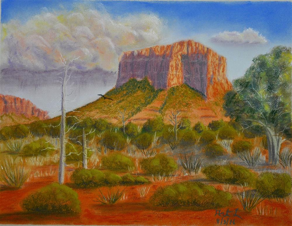 """Courthouse Rock"" original fine art by Art Livingston"