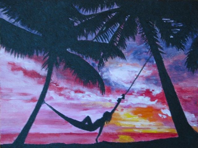 """Relaxation"" original fine art by Nan Johnson"