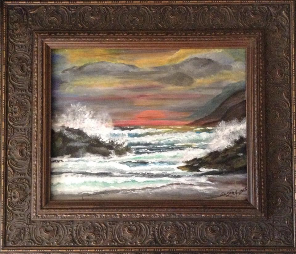 """THE END OF THE STORM"" original fine art by Susan Belisle"