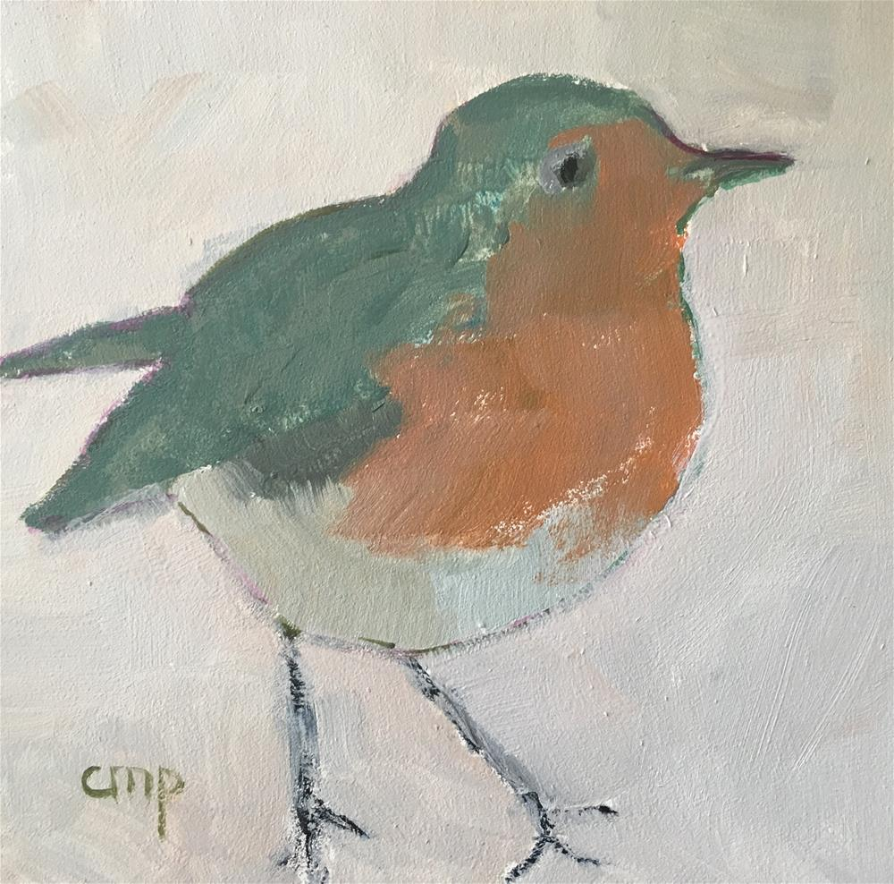 """Robin"" original fine art by Christine Parker"