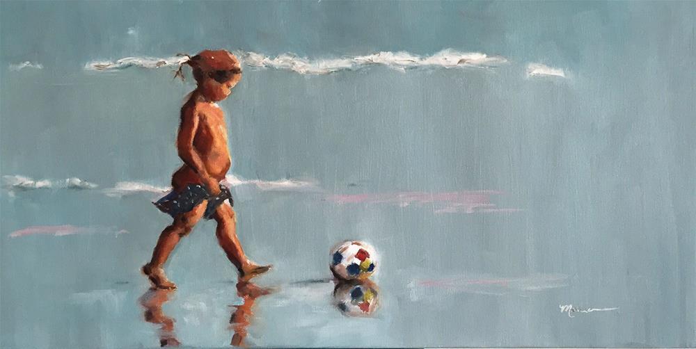 """Losin' It"" original fine art by Marcia Hodges"