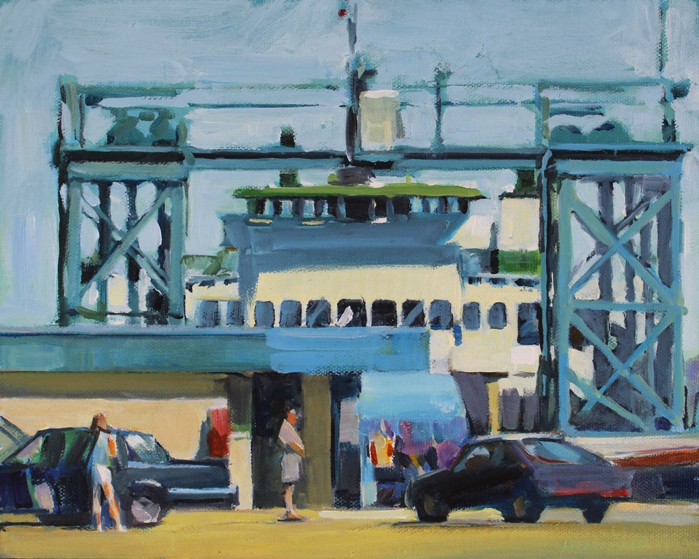 """Vashon Ferry Terminal"" original fine art by Gretchen Hancock"