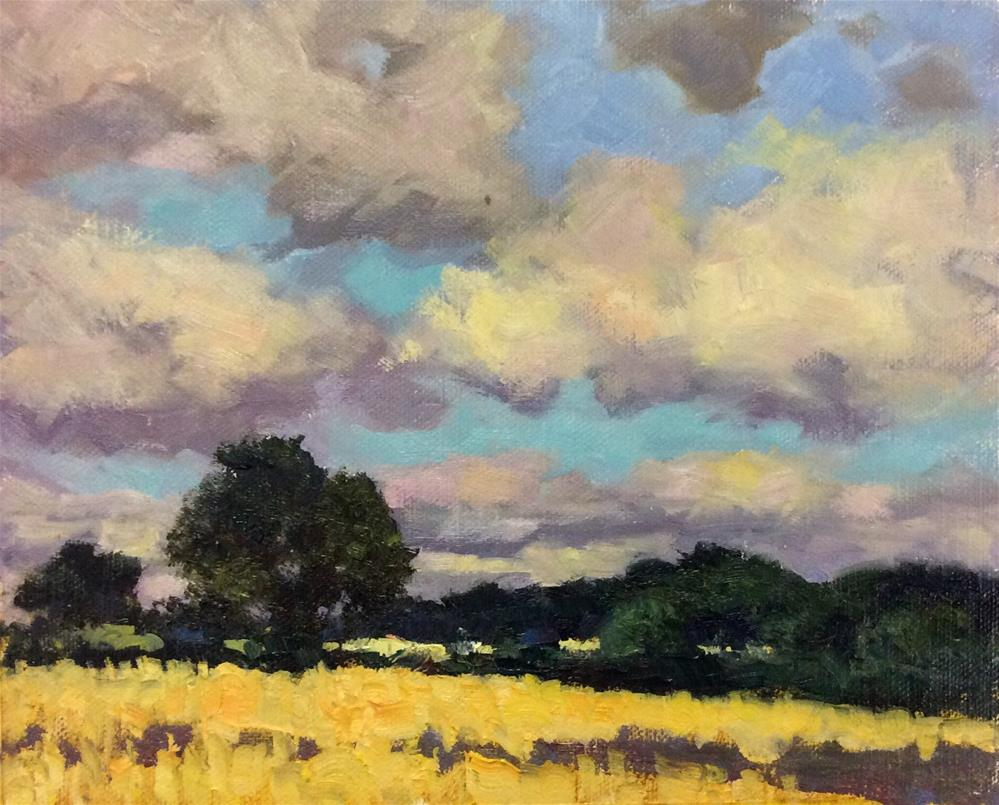 """Across the Fields"" original fine art by John Shave"