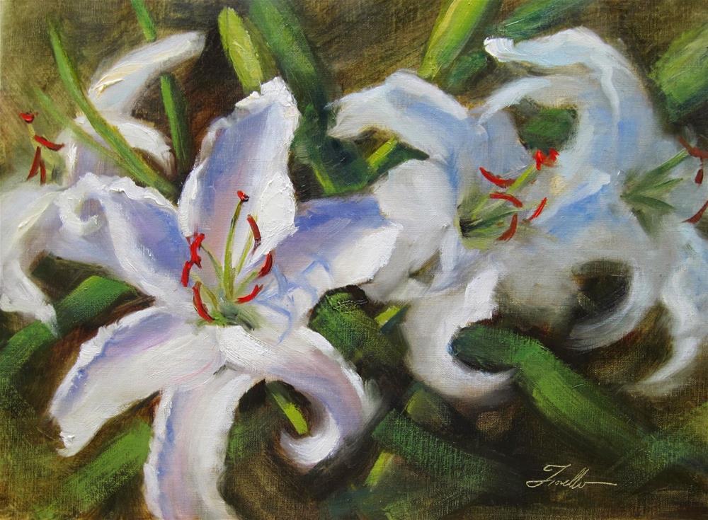 """Garden Lilies II"" original fine art by Pat Fiorello"