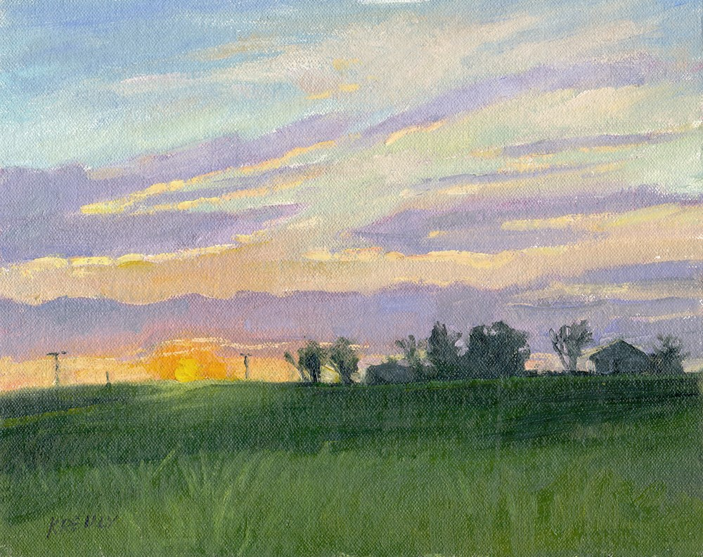"""Sunrise"" original fine art by Kath Reilly"