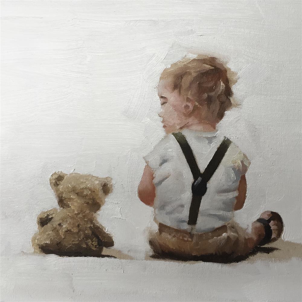 """Teddy Boy"" original fine art by James Coates"