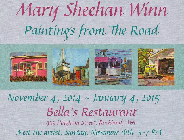 """Bella's Opening this Sunday 5-7"" original fine art by Mary Sheehan Winn"