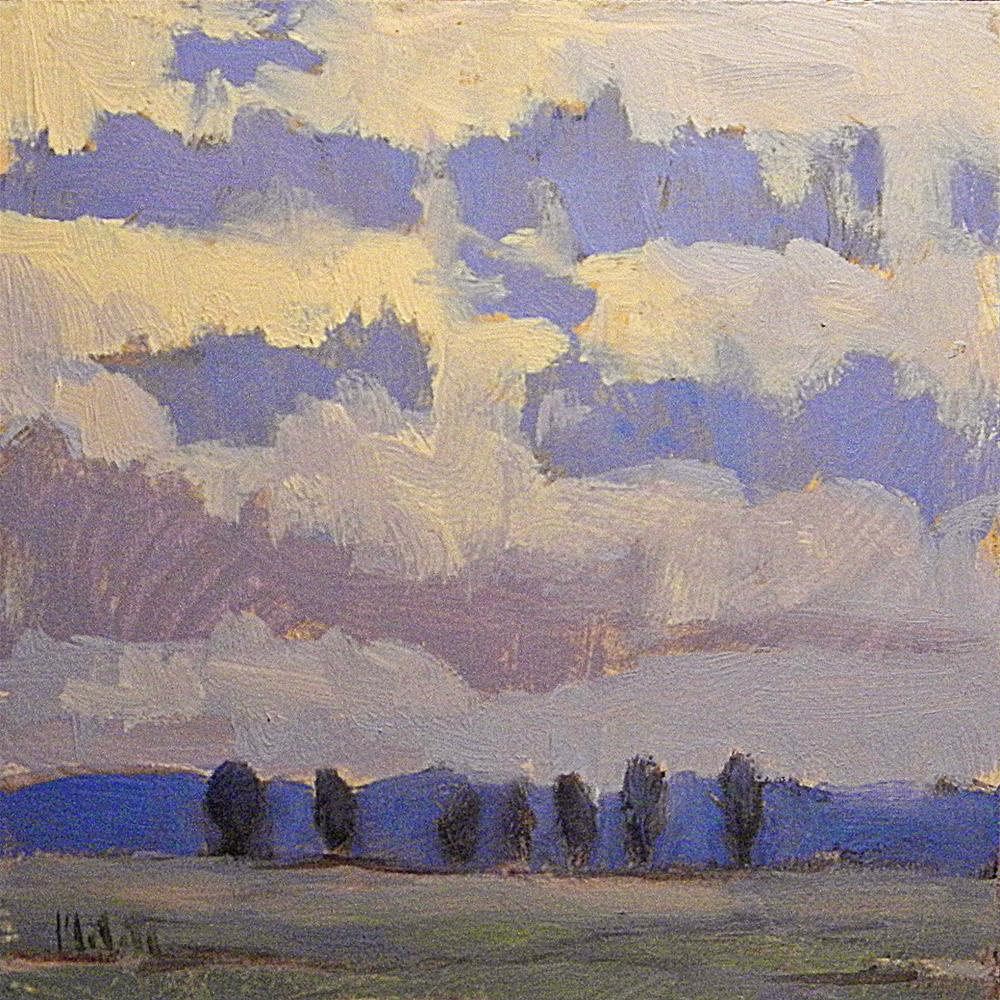 """Dusk Landscape Blues Original Oil Painting Heidi Malott"" original fine art by Heidi Malott"