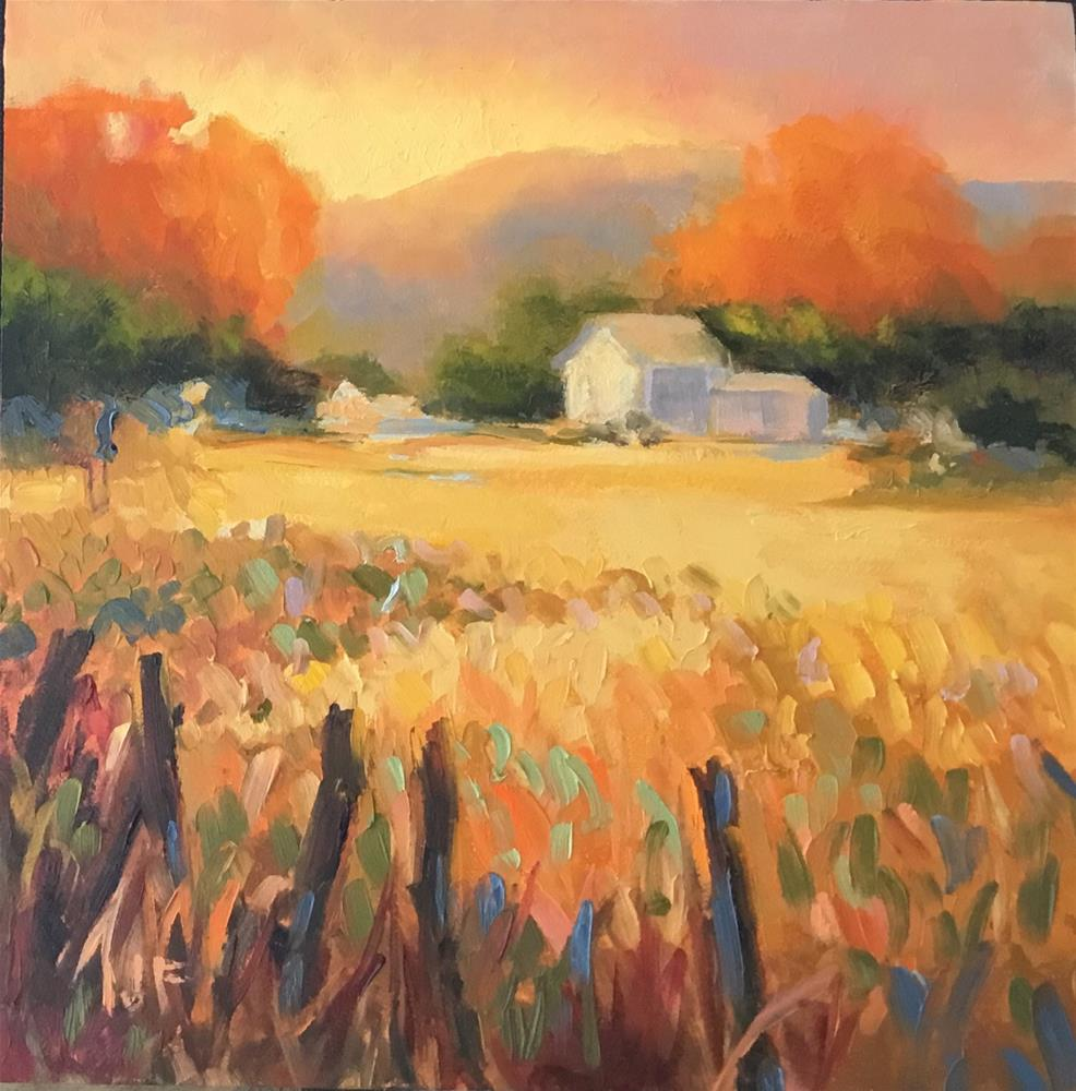 """Farm"" original fine art by Jean Fitzgerald"