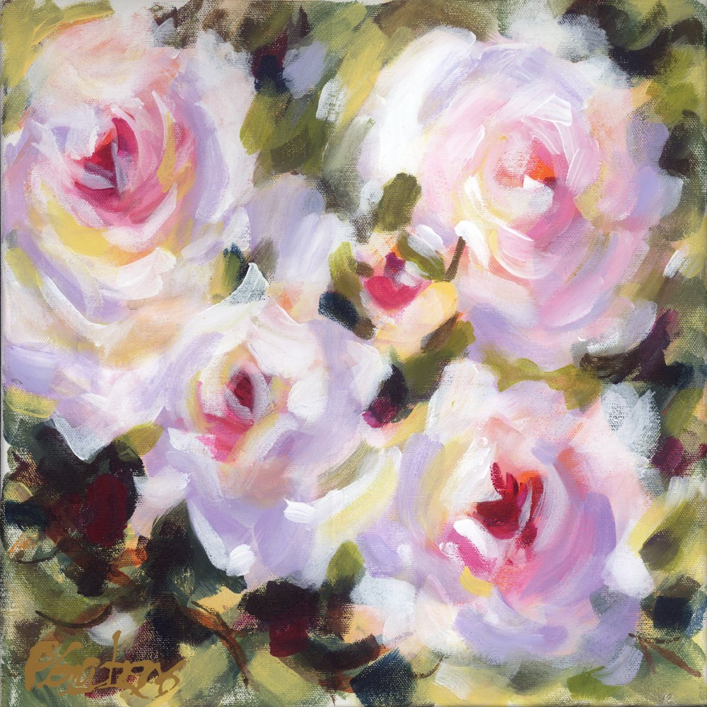 """Rose Associates"" original fine art by Pamela Gatens"