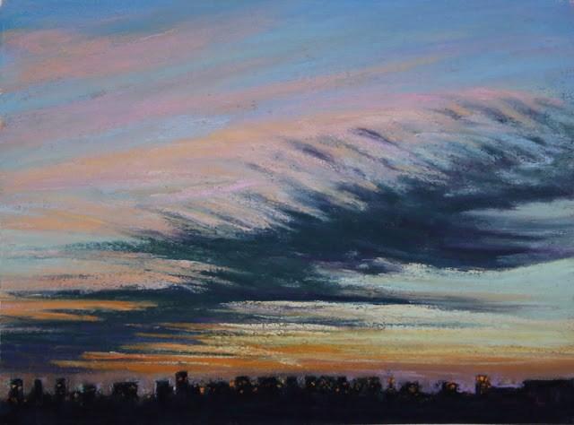 """Twilight Dance"" original fine art by Sharon Lewis"
