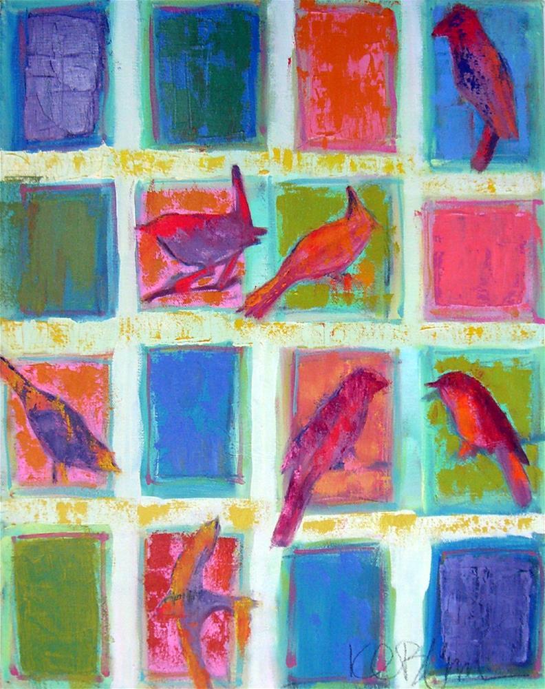 """Birdsong"" original fine art by Kathy Broyles"
