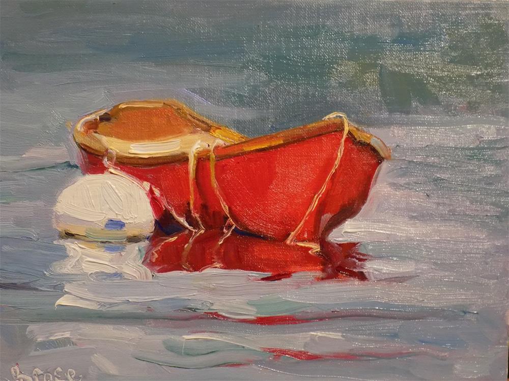 """Cadmium Dingy"" original fine art by Rita Brace"