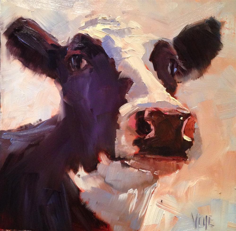 """#200 Little Miss Big Ears"" original fine art by Patty Voje"