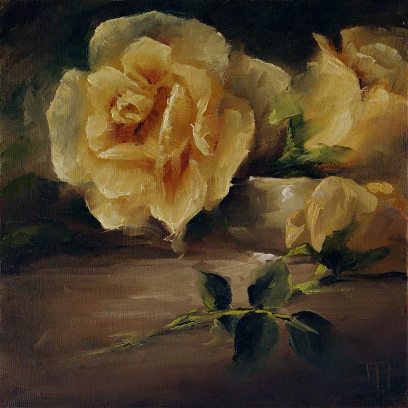 """Rose Study 2"" original fine art by Lori Twiggs"