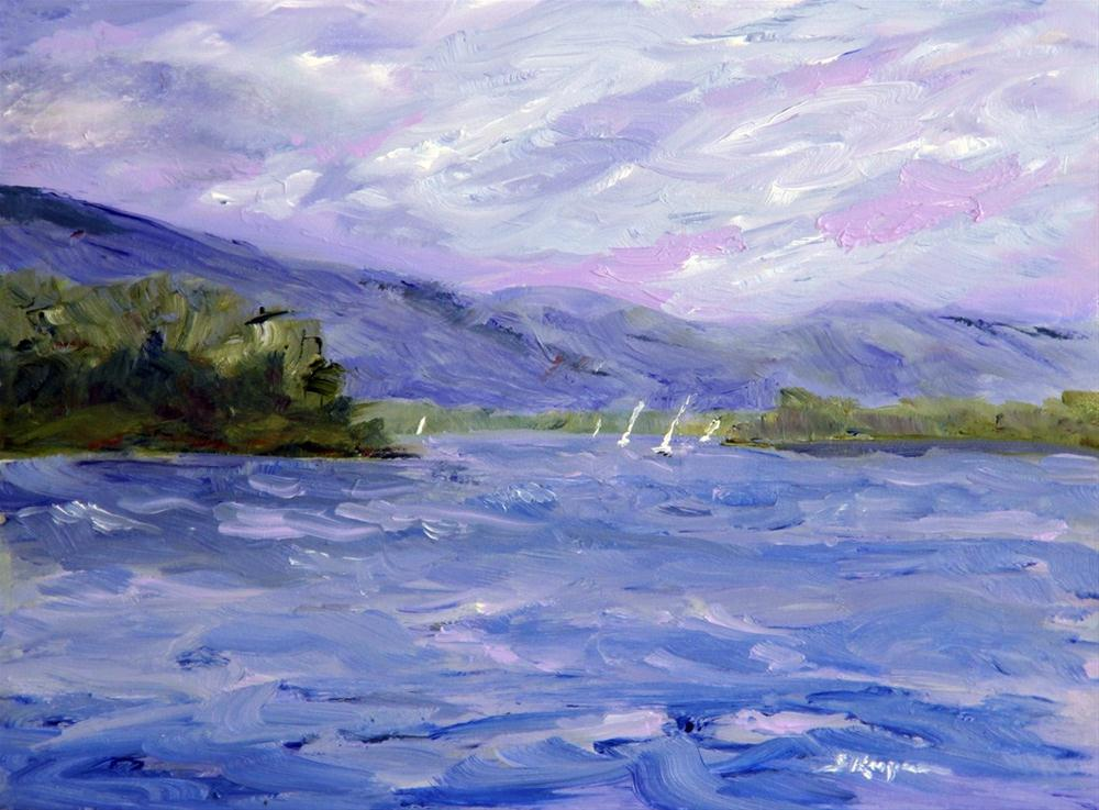 """Sailing on Smith Mountain Lake"" original fine art by Shelley Koopmann"