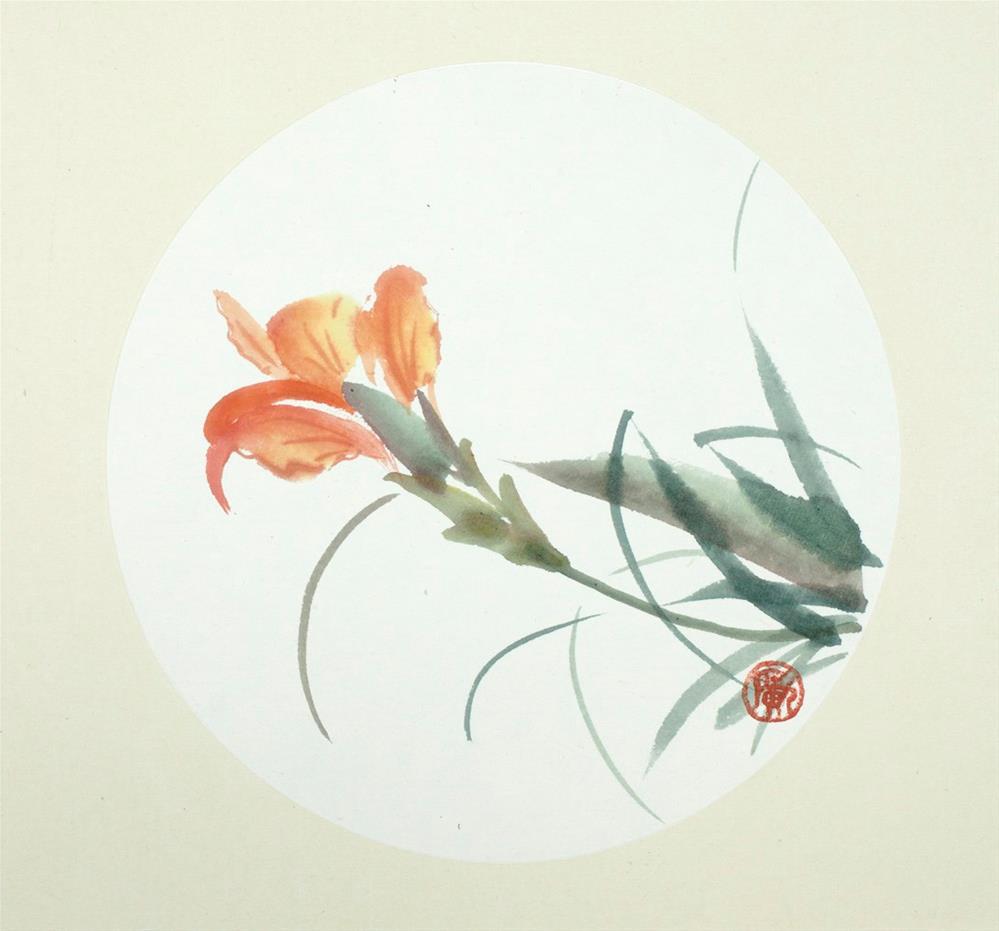 """""""Cattleya"""" original fine art by R kwong"""