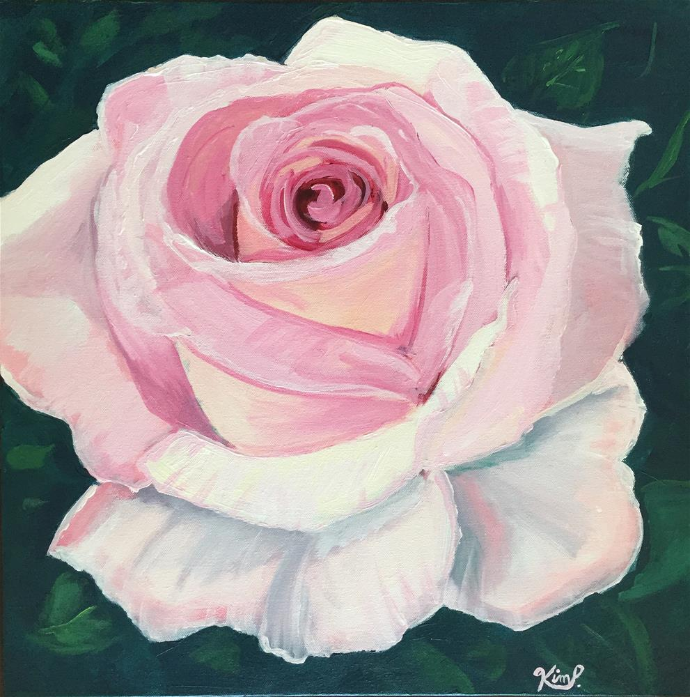 """Pink Rose"" original fine art by Kim Peterson"