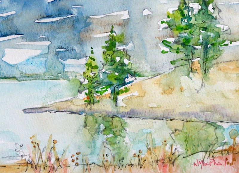 """""""reflections"""" original fine art by Nora MacPhail"""