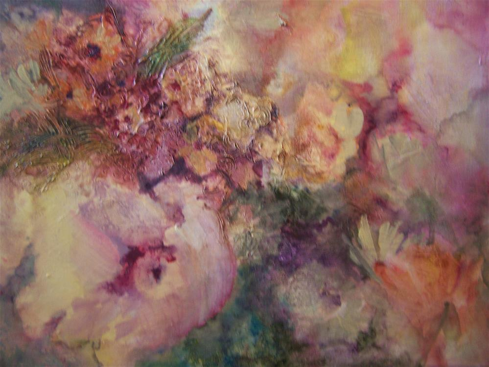 """Floral abstract #2"" original fine art by Joan Reive"