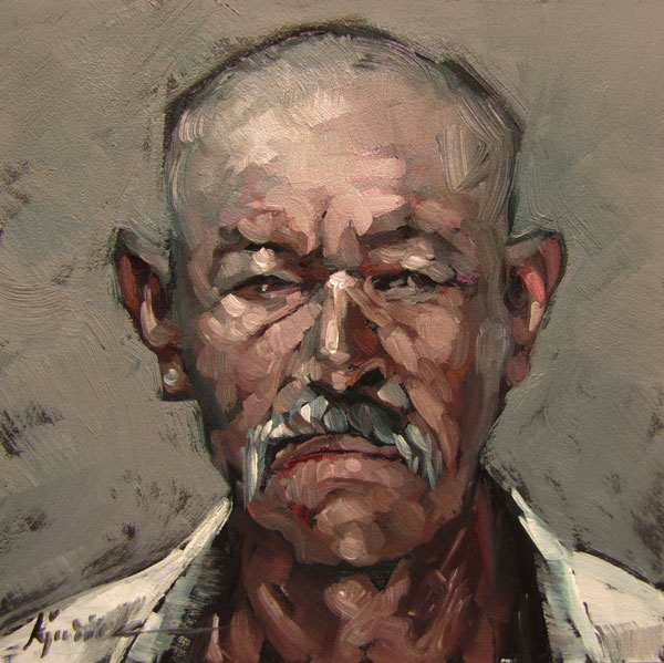 """100 Faces, No. 23"" original fine art by Karin Jurick"