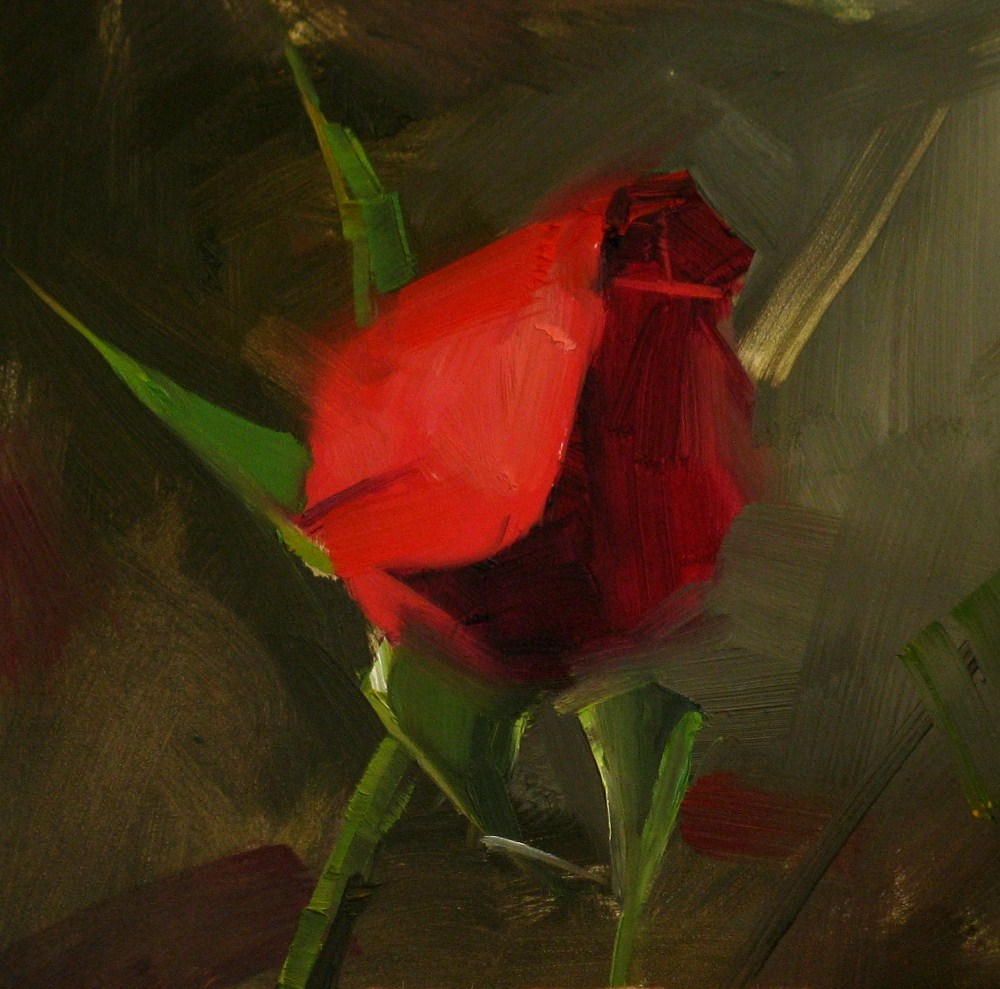 """""""Waiting For My Valentine"""" original fine art by Qiang Huang"""