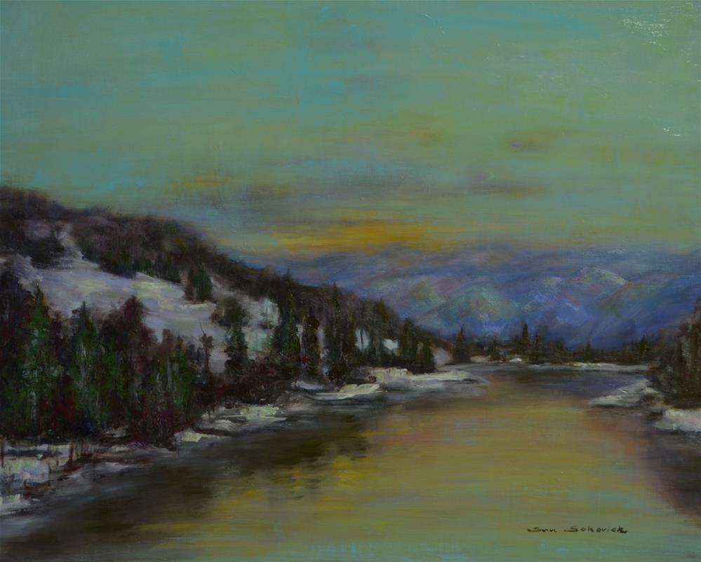 """snow on mountain"" original fine art by Sun Sohovich"