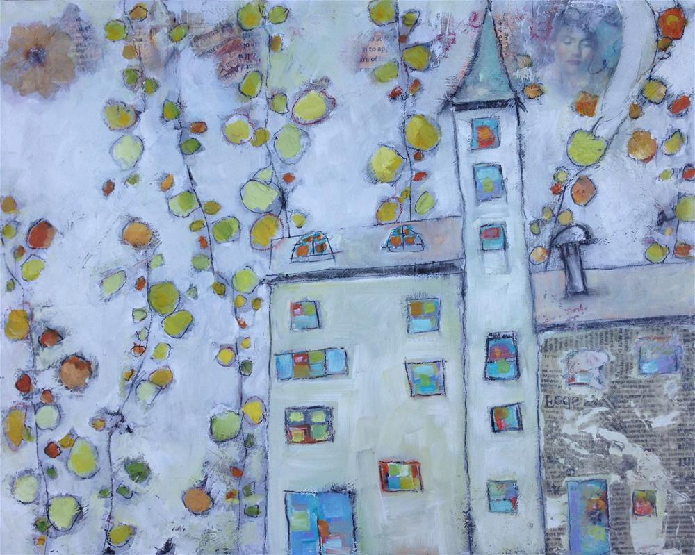 """The House in the Trees"" original fine art by Anne Ducrot"