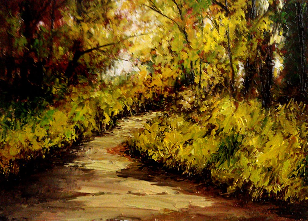 """The Deep Woods Trail"" original fine art by Bob Kimball"