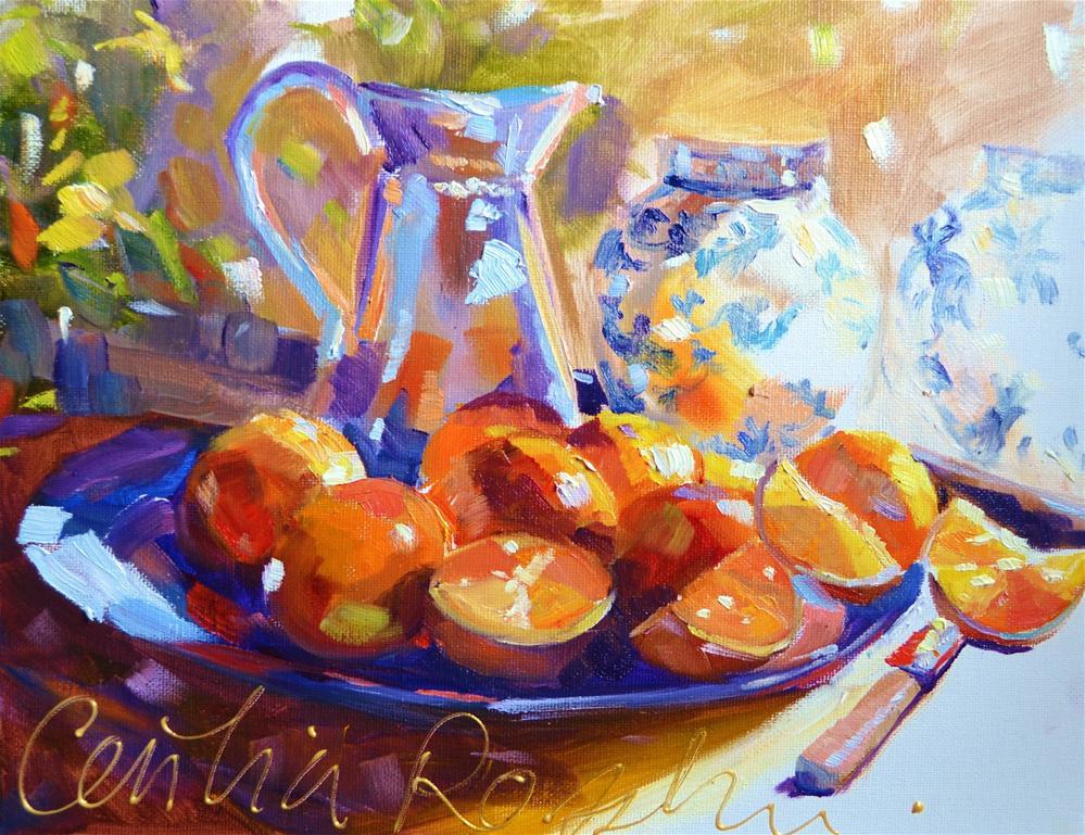 """PICHET BLEU"" original fine art by Cecilia Rosslee"