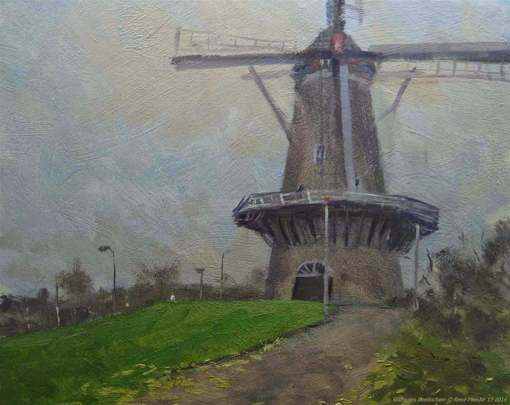 """Walmolen Doetinchem, The Netherlands"" original fine art by René PleinAir"