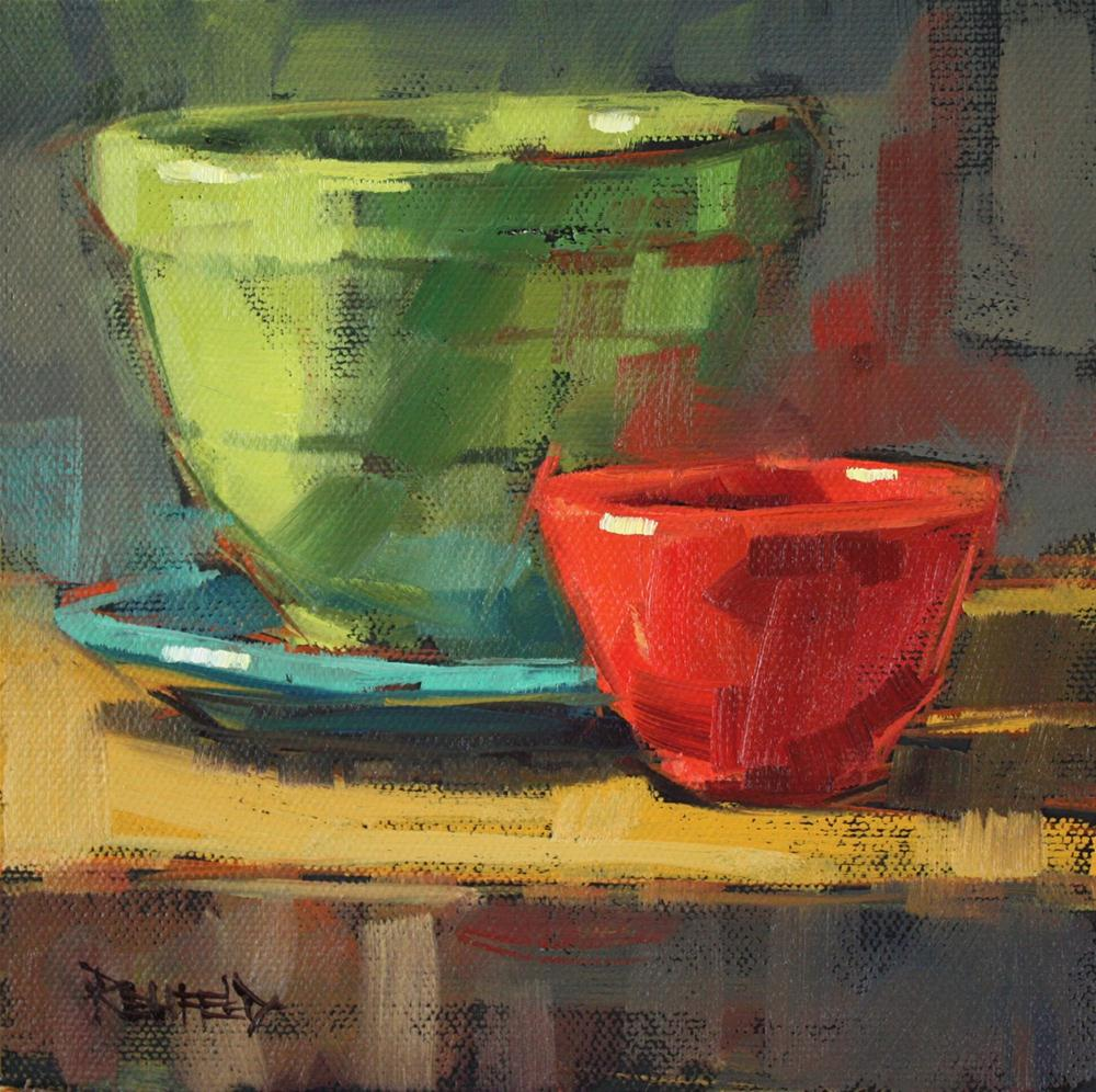 """The Red Bowl"" original fine art by Cathleen Rehfeld"