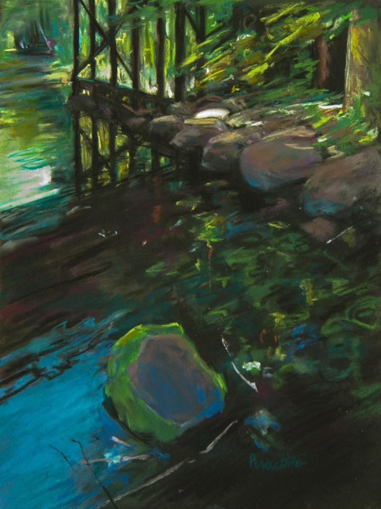 """Reflections at Johnson Creek"" original fine art by Sarah Peroutka"