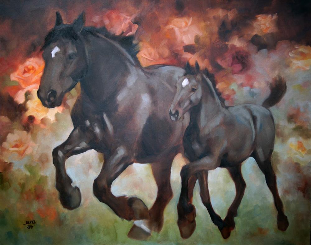 """Tapestry"" original fine art by Elaine Juska Joseph"