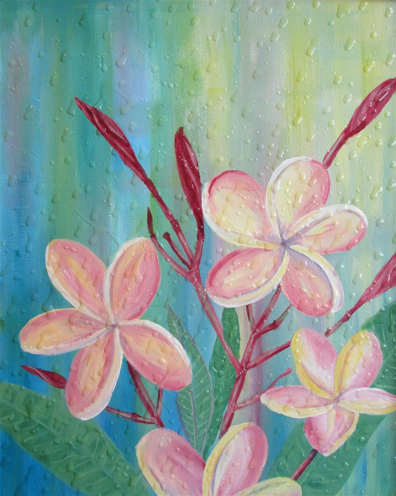 """Frangipani in my front yard"" original fine art by Chris MacCormack"