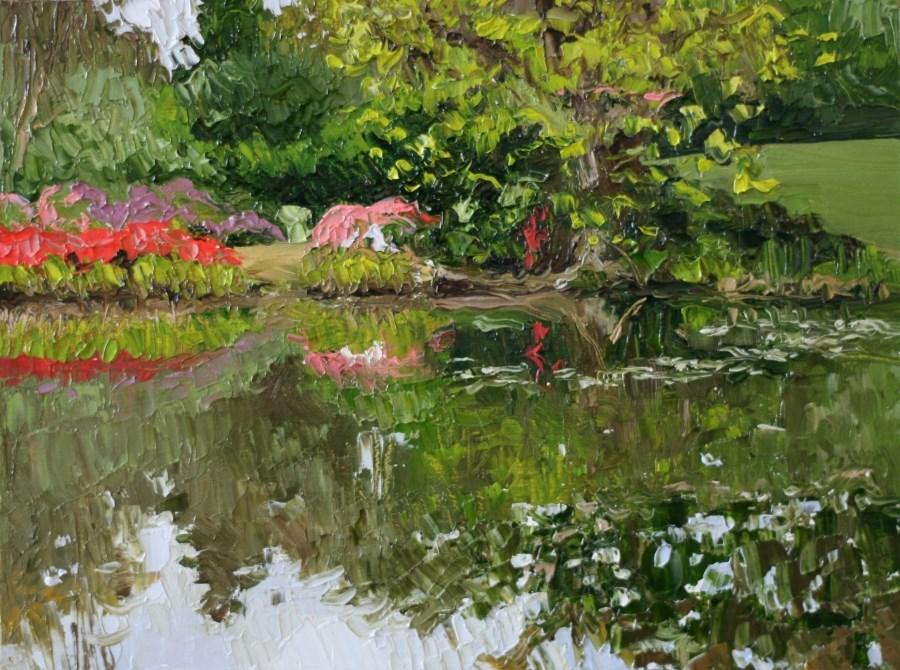 """Isabella Pool"" original fine art by Jethro Knight"