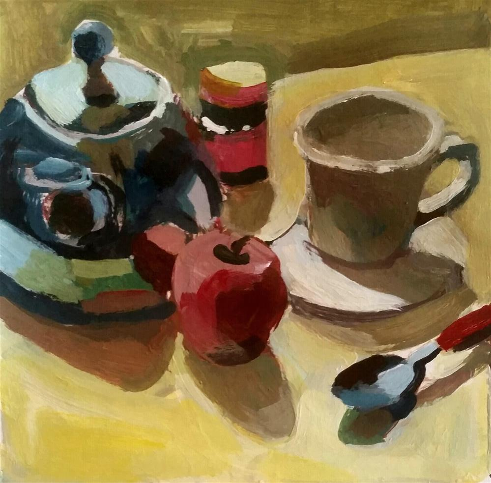 """Kettle Reflections"" original fine art by Liz Maynes"