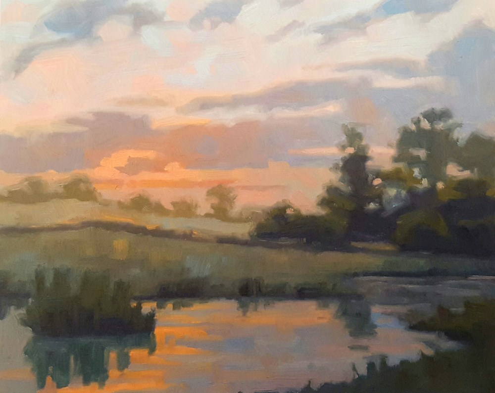 """Morning Light"" original fine art by Les Dorscheid"