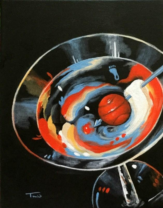 """""""Tar Heel Martini III"""" original fine art by Torrie Smiley"""
