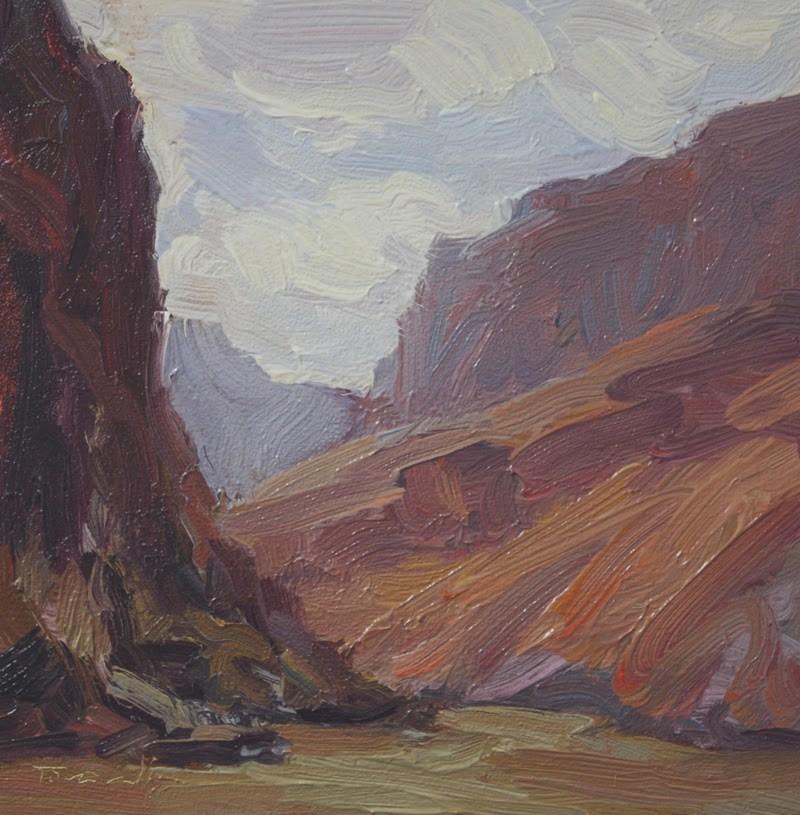 """Grand Canyon Sky - NFS"" original fine art by Kathryn Townsend"