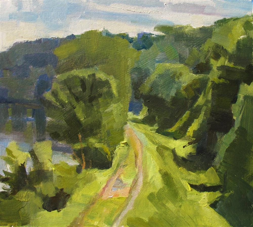 """Towpath near Lumberville"" original fine art by Taryn Day"