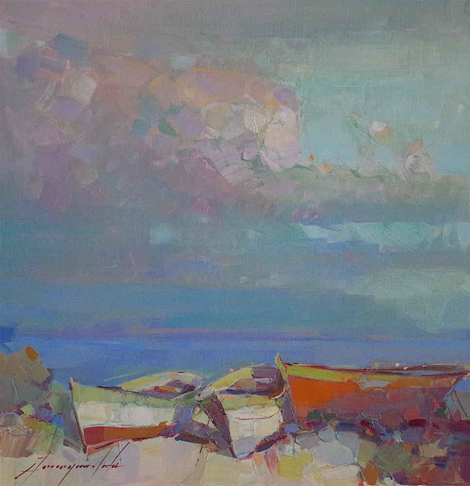"""Seascape, Oil painting, Handmade artwork, One of a Kind"" original fine art by V Y"